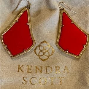 Bright Red Kendra Scott Drop Earrings!